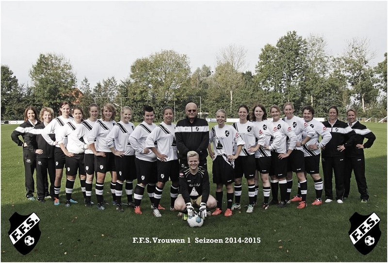 Dames teamfoto 2014-2015