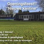 FEESTAVOND FFS: OPENING NIEUWE KANTINE!